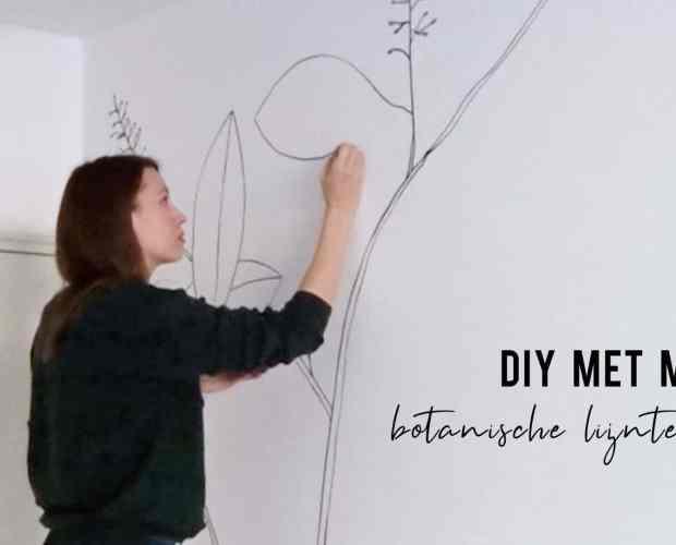 DIY met mij - botanische lijntekening   IMAKIN