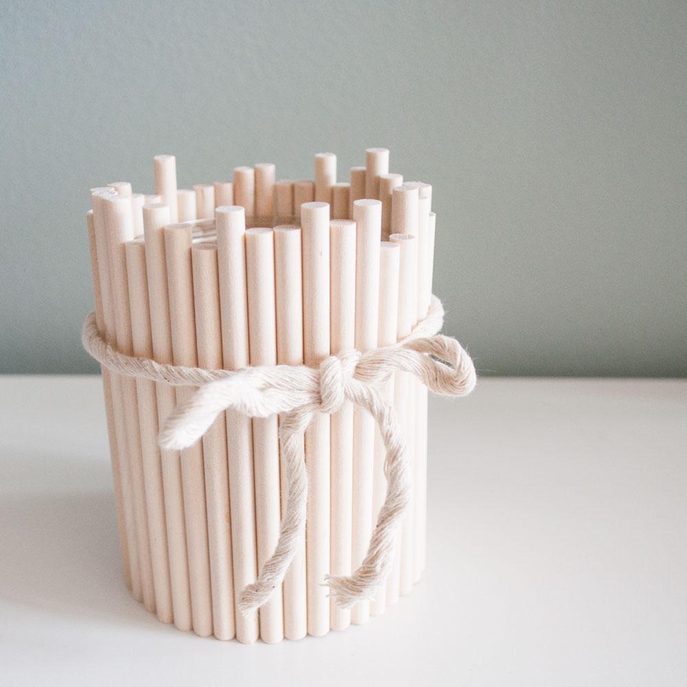 DIY houten waxinelichthouder | IMAKIN