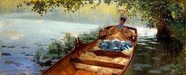 Giuseppe De Nittis, Donna in barca, 1875