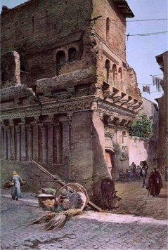 Ettore Roesler Franz, La Casa di Cola di Rienzo, 1880