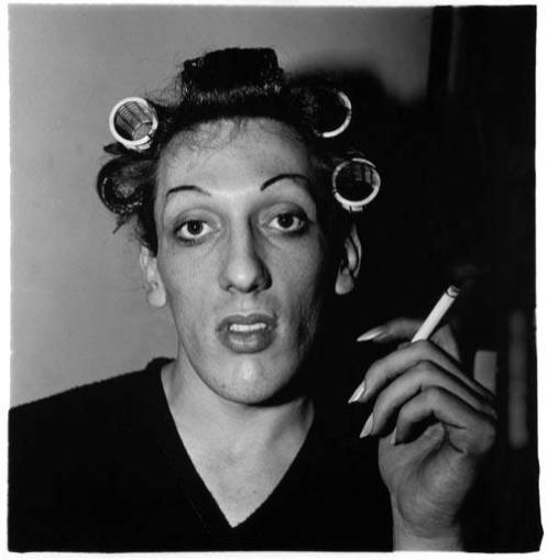 A Young Man in Curlers at Home on West 20th Street, New York, 1966