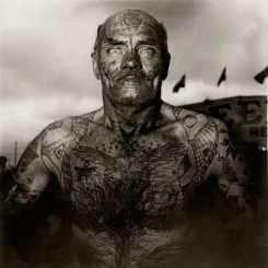 Tattooed Man at a Carnival, MD, 1970