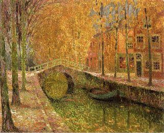 Henri Le Sidaner, Canale a Delft, 1905