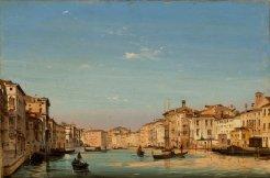 Ippolito Caffi, Venezia: Canal Grande, 1858, Olio su cartoncino intelato, 33×49 cm