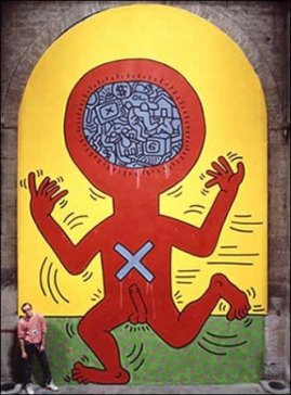 Keith Haring, I 10 Comandamenti, Tavola 4, 1985