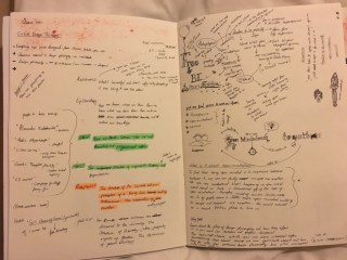 My page of notes from the session