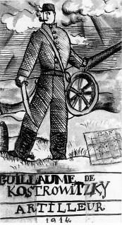Pablo Picasso - Guillaume de Kostrowitzky, artillero ( Carta a Guillaume Apollinaire, 22 de diciembre de 1914)