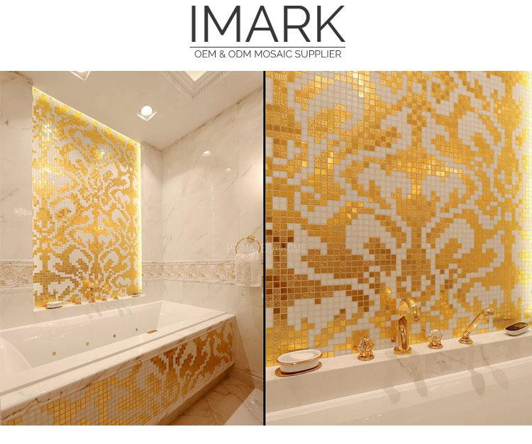 classical italian gold glass mosaic
