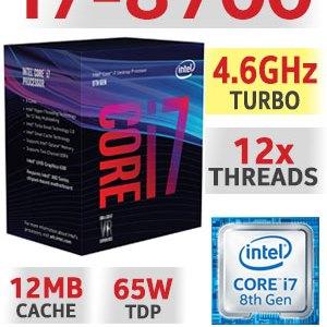 Processador INTEL Core i7 8700-3.2GHz 12MB LGA1151