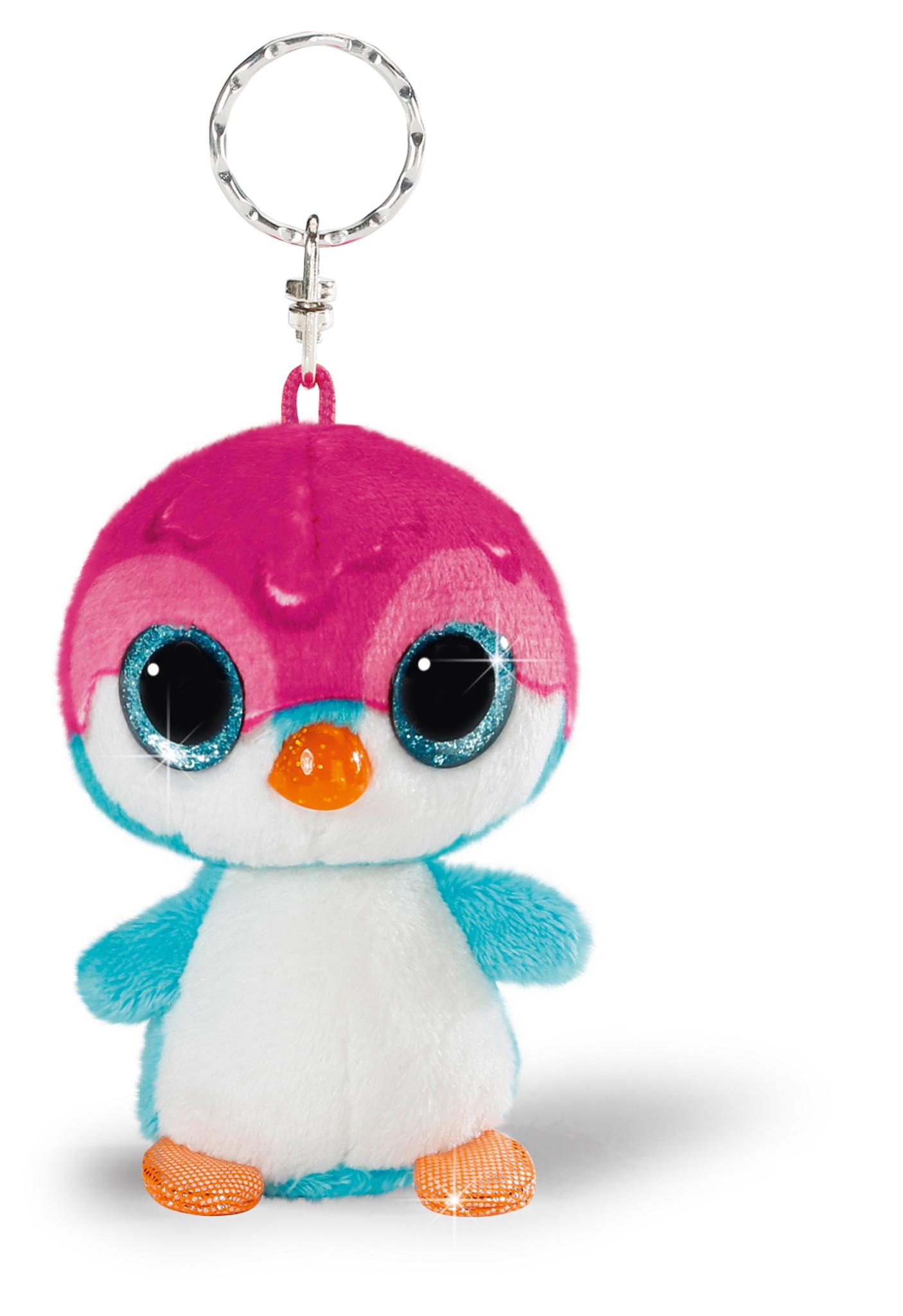 llavero pingüino rosa
