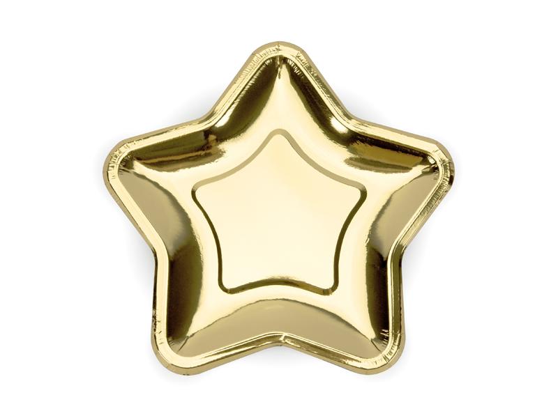 plato estrella dorada