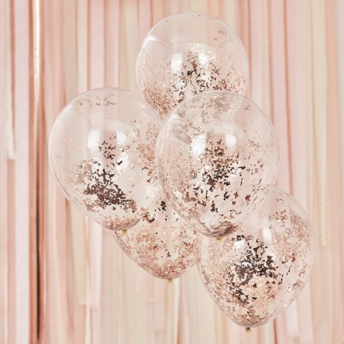 Rose gold globos