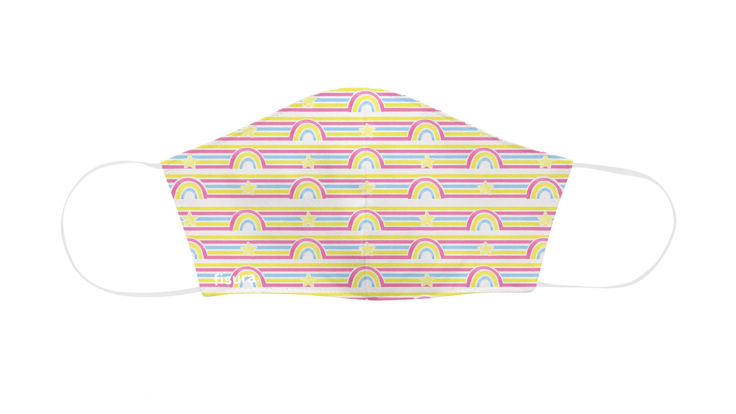 MAscarilla arcoiris