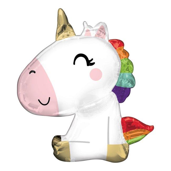 Globo metalizado unicornio sentado