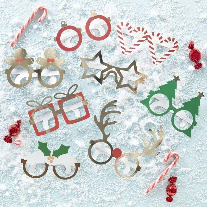 Kit de Gafas decorativas Navidad Ginger Ray