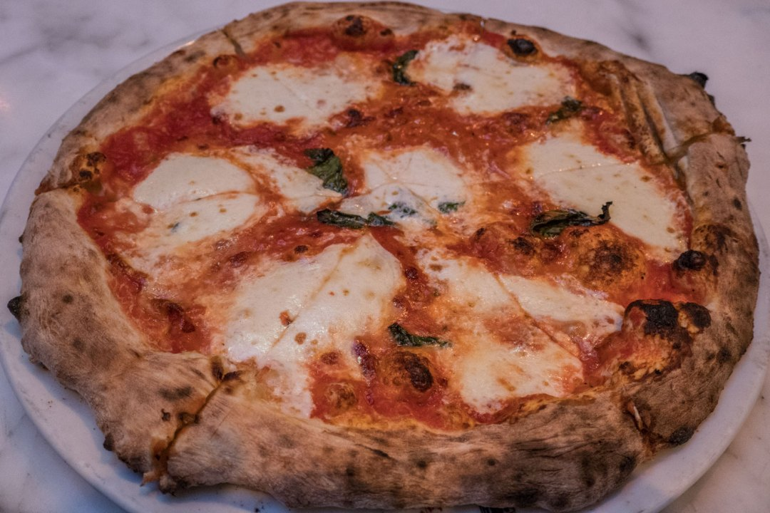 Margherita Pizza at Zero Otto Nove Arthur Avenue Bronx Little Italy