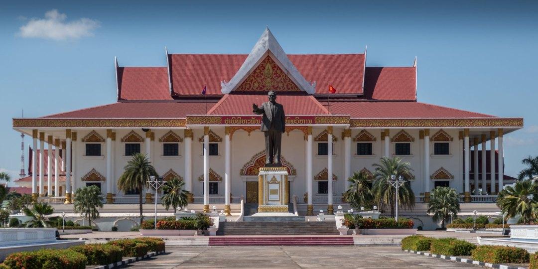 Kaysone Statue Vientiane Laos