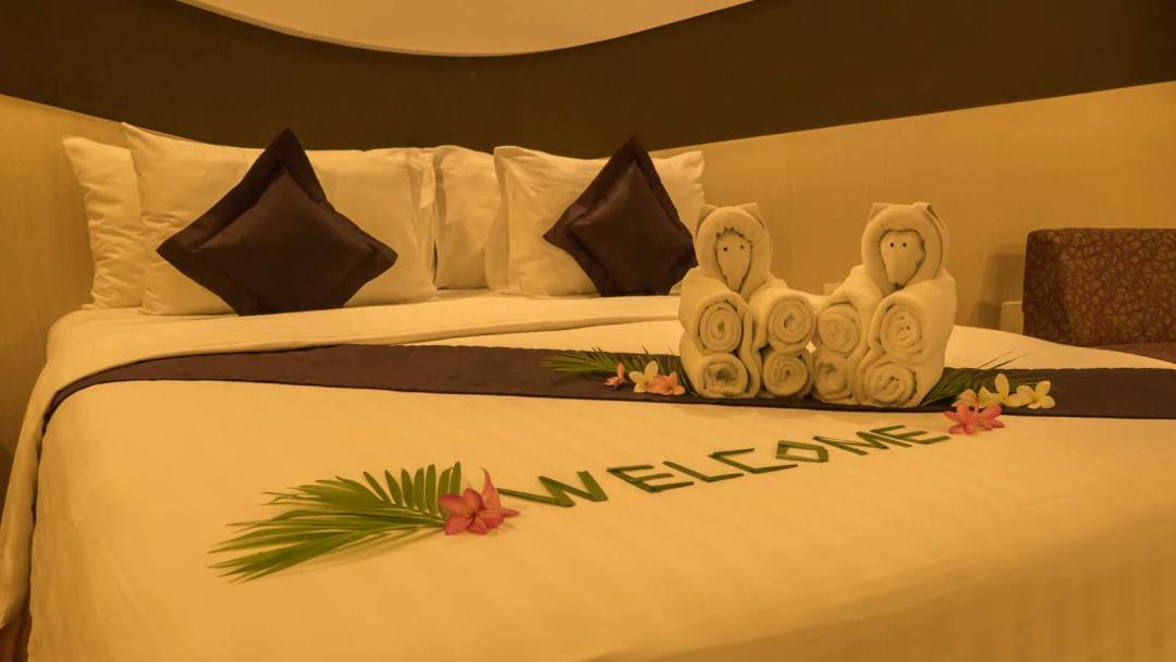 bed at Aston Cirebon Hotel & Convention Center