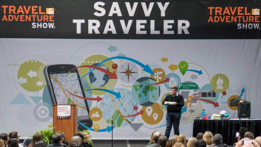 Angel Castellanos Savvy Traveler Theater DC Travel and Adventure Show