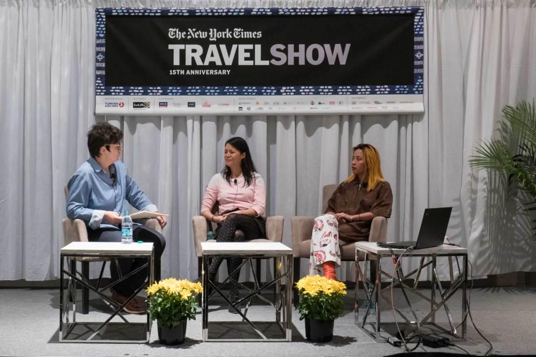 Angela Dimayuga Claudia Wu 2018 New York Times Travel Show