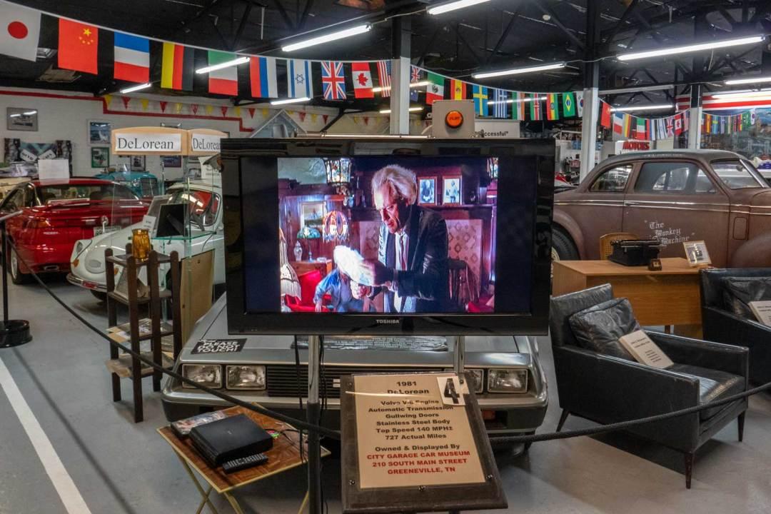 1981 DeLorean City Garage Car Museum Greeneville Tennessee