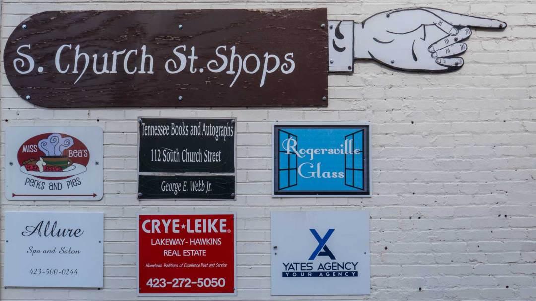 South Church Street shops Rogersville Tennessee