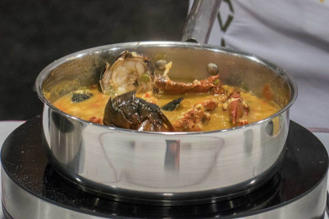 caldoso-of-bomba-rice-prepared-by-Chef-Javier-Cuesta-from-Taberna-del-Alabardero-at-the-Taste-of-Travel-theater-DC-Travel-&-Adventure-Show-2018-Walter-E-Washington-Convemention-Center-1600x1067