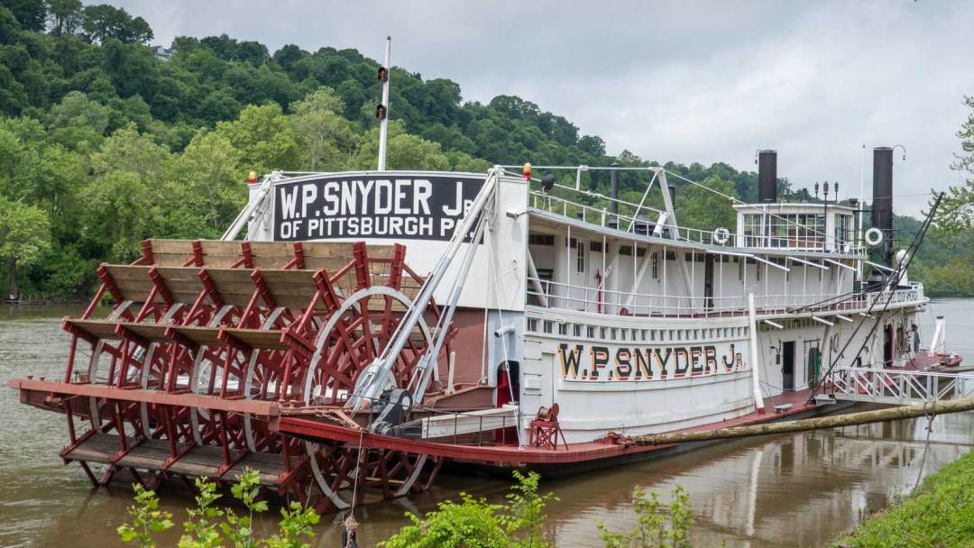 W.P. Snyder Jr. towboat Muskingum River Marietta Ohio
