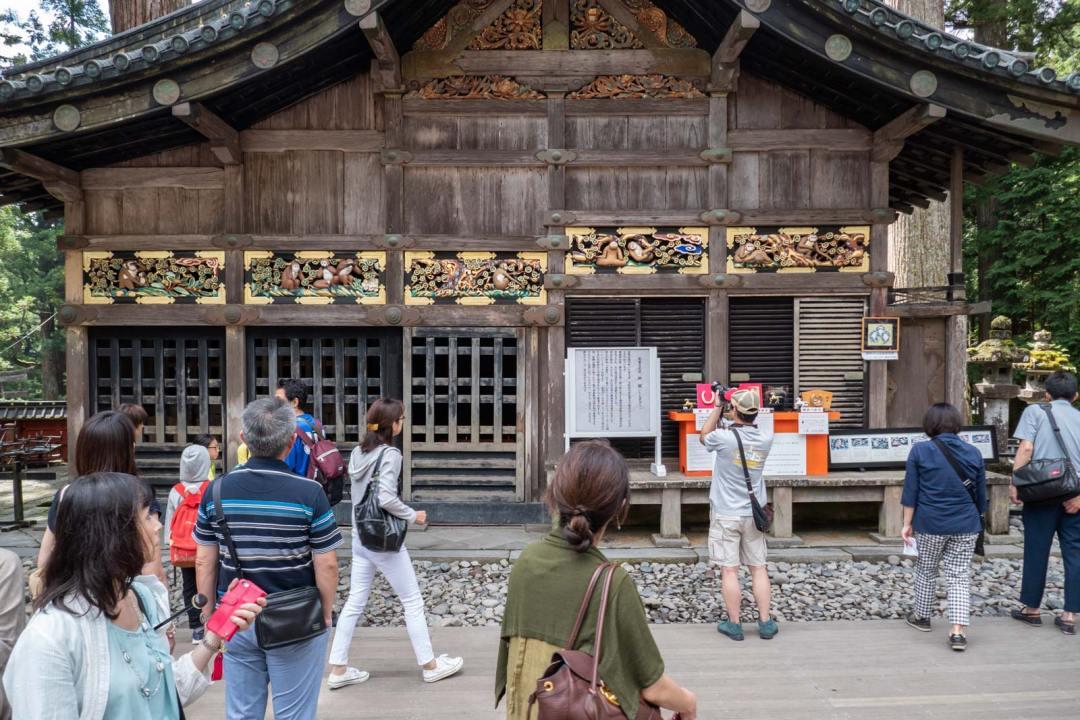 Three Monkeys Toshugu Shrine Nikko