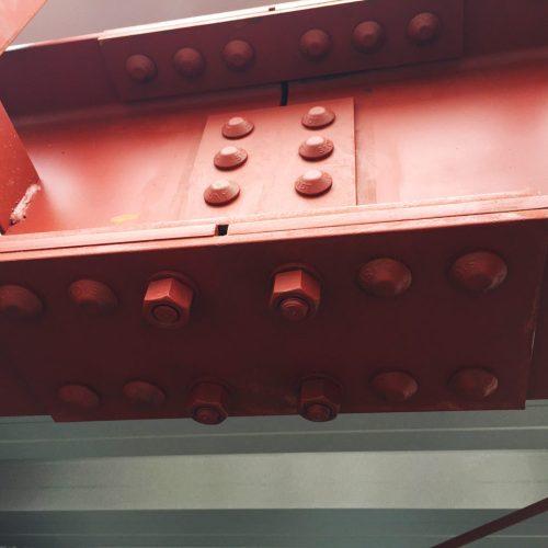 工場の移転新築、デザインの鉄骨ボルト検査|愛知県江南市の市街化調整区域