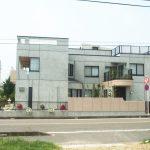 設計・デザインをした三世帯同居バリアフリー鉄筋コンクリート打ち放し注文住宅