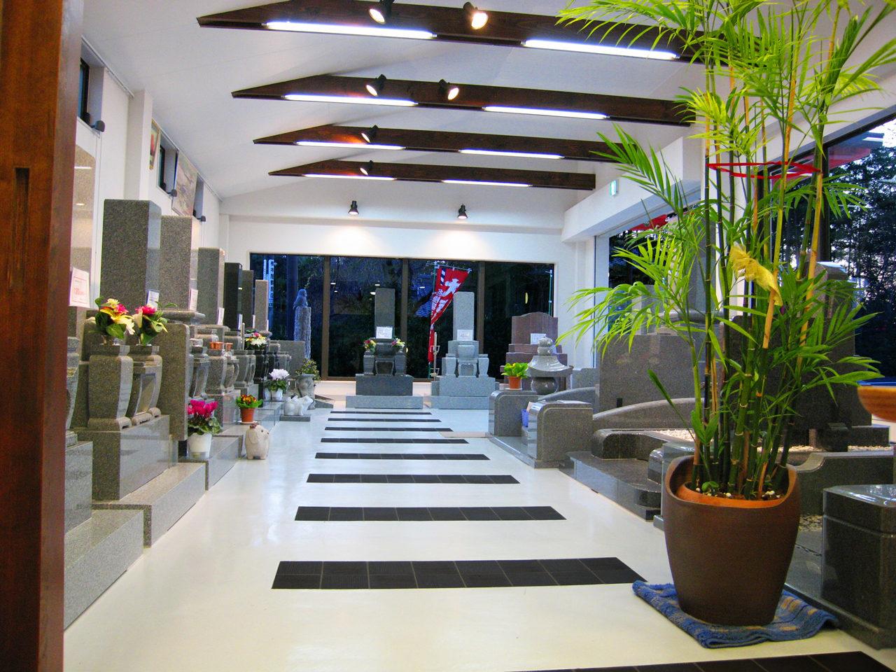 中村石材|石材店、墓石屋併用住宅の展示ショールーム、事務所の新築設計、店舗デザイン