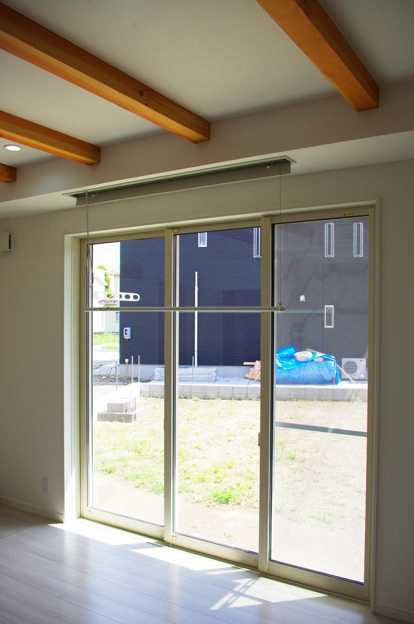 室内物干しユニット ホシ姫サマを取り付けた愛知県江南市の注文住宅の新築設計、デザイン
