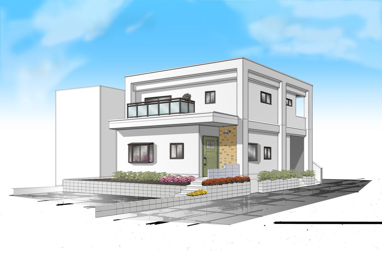 空き家を賃貸住宅へリノベーション改装工事の設計・デザインの完成予想図