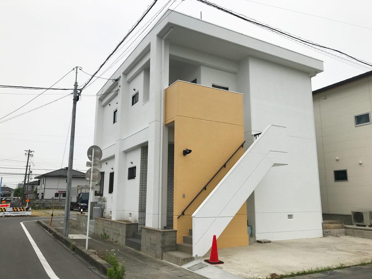 一宮市の空き家を賃貸マンションへリノベーション工事設計のリノベーション後西面