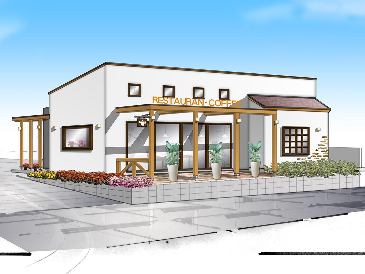 喫茶店・飲食店を市街化調整区域で設計・店舗デザイン