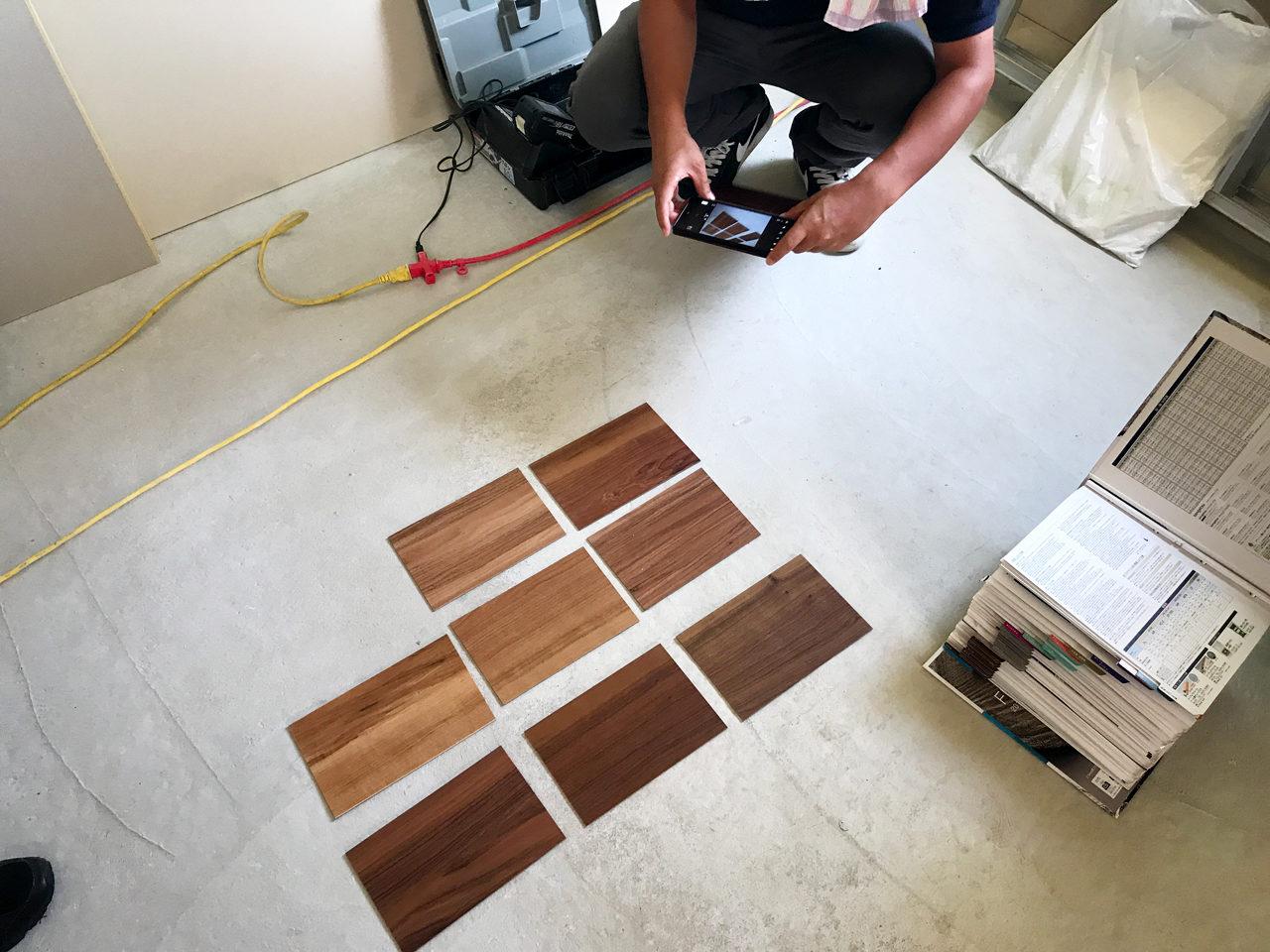 設計したロフト付きデザイナーズ賃貸マンションの床材