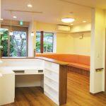 設計した店舗(接骨院)兼用自宅の受付カウンター|愛知県丹羽郡大口町