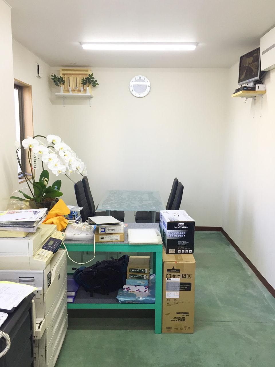 工場内の事務所の設計、デザイン|愛知県江南市