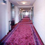 愛知県小牧市で設計、デザインしたビジネスホテルの廊下