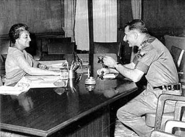 Manekshaw and Indira Gandhi