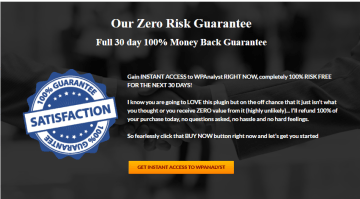 Guarantee 300x166 - <b>WPAnalyst Wordpress Plugin Review<b> | IM Tools