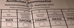 Nationalratswahl 2013 in Österreich (Wahl 13)!