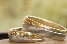 Hochzeitsringe / Eheringe fotografiert