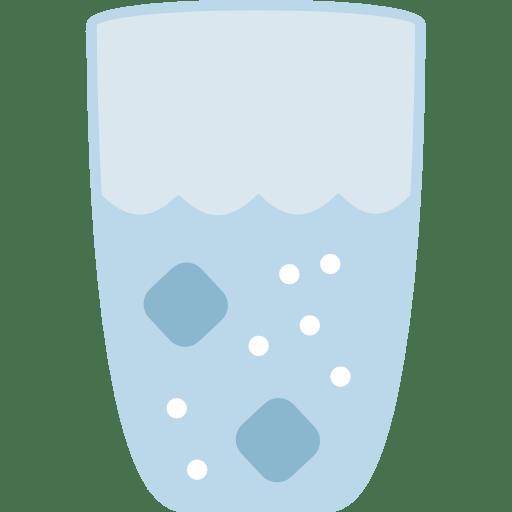 Wasserglas mit Eiswürfeln