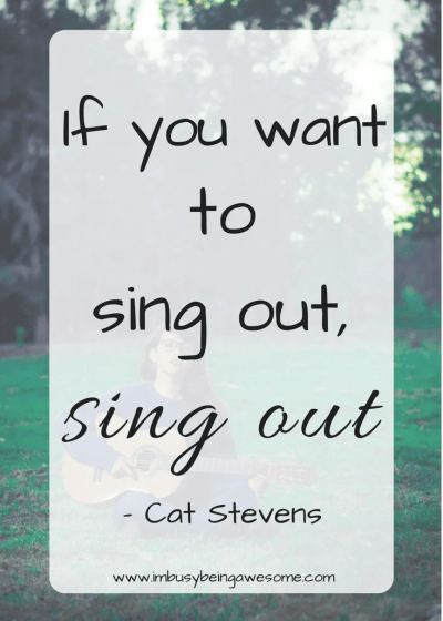 Motivation Music Monday with Cat Stevens