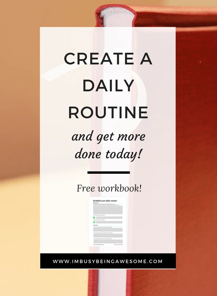 Create a Flexible Daily Routine for maximum productivity. Time management, planner, schedule, organization, busy, work life balance, health, mindfulness