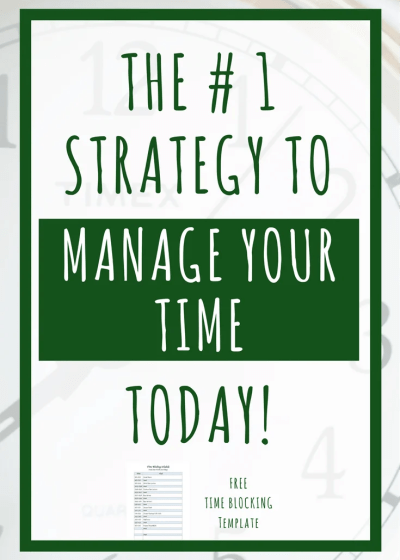 The Number One Time Management Strategy: Time Blocking