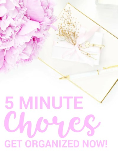5 Minute Chores. Todo list, cleaning, organization, time management, one minute rule, 5 minutes, quick, fast, organized, time saver, spring cleaning, #todo #todolist #cleaning #springcleaning #organization #oneminuterule #5minutes #quick #fast #timesaver