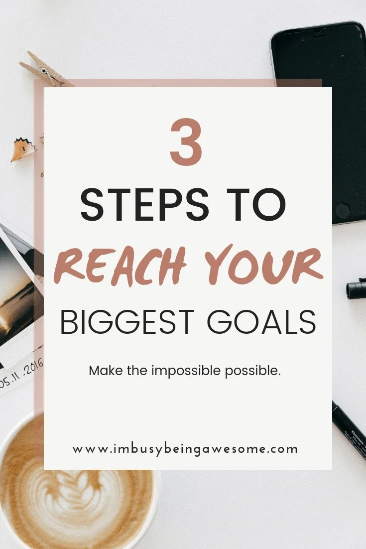 Are you struggling to stick with your fitness goals? Do you need tips or motivation to workout? Do you want to get back on track and finally reach your goals? Then check out these 3 simple steps to stay focused on your goals.